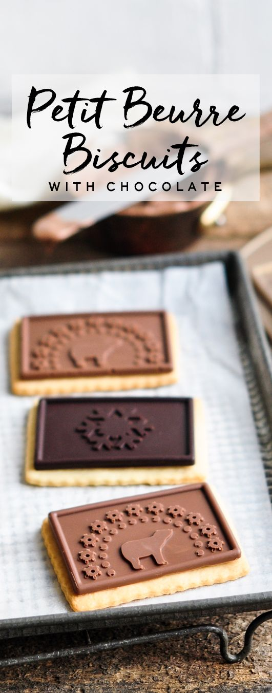 Petit Beurre Biscuits with Chocolate (Petit écolier) #petitbeurre #petitecolier
