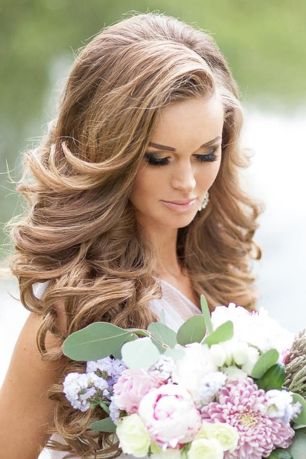 Bridal Hairstyles For Long Hair With Flowers : 1077 best wedding hairstyles & accessories images on pinterest