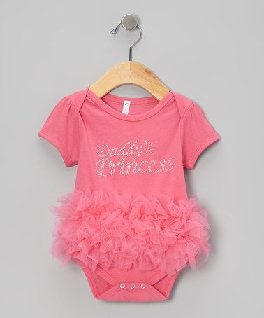 Lipstick Pink Daddys Princess Ruffle Bodysuit - Infant by Bubby & Belle on #zulily