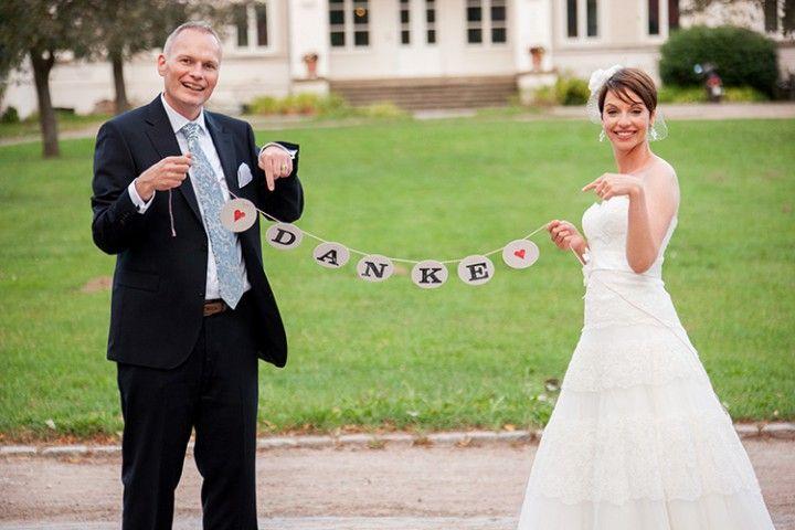 Danke Girlande zur Hochzeit