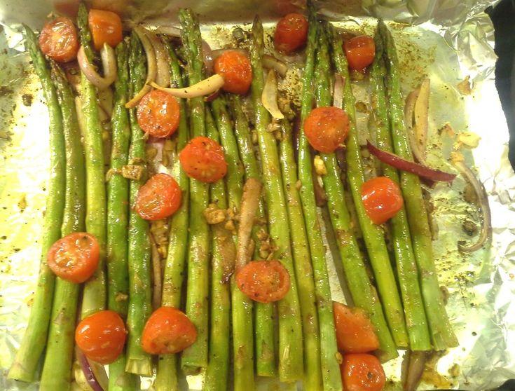 Asparagus-Tomato-Onion
