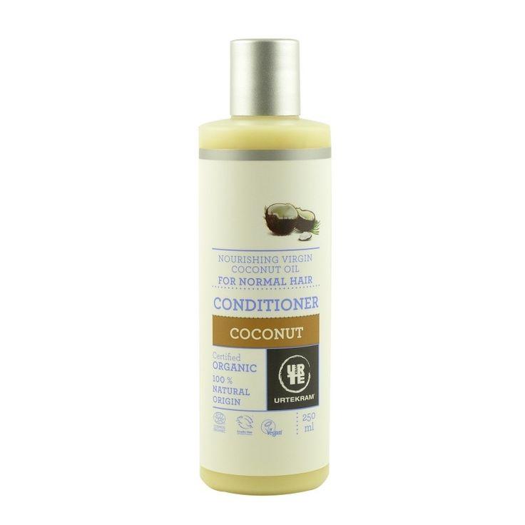 Balsamul bio cu nectar de cocos pentru păr normal, de la Urtekram, conține ulei din nucă de cocos, coajă de portocală și aloe vera ce hidratează și revitalizează părul în mod natural, lăsându-l moale și mătăsos.  #balsam #cocos #par #normal #organik