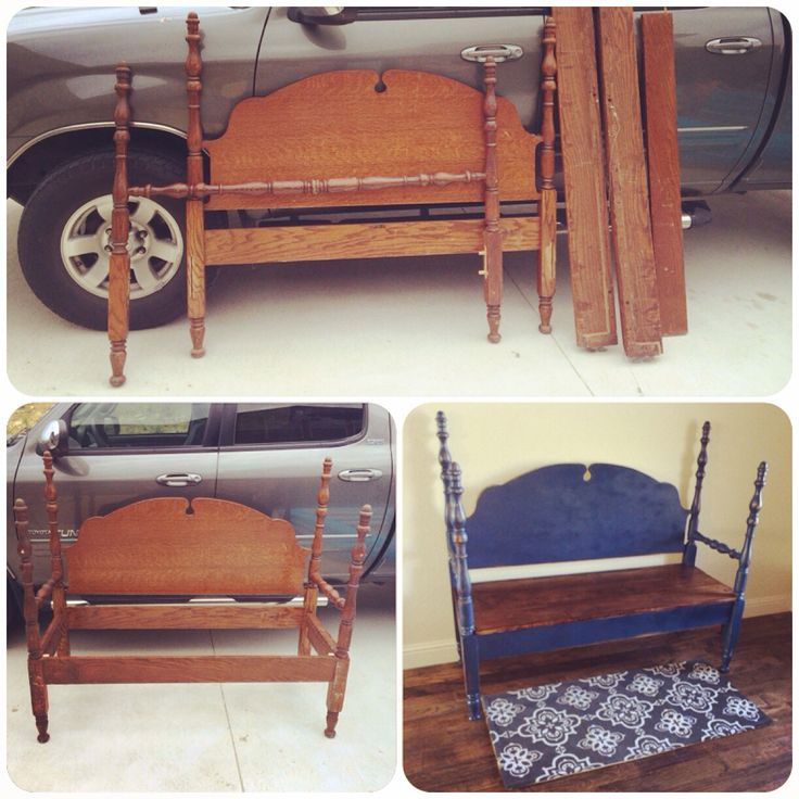 9 best bed frame bench images on pinterest bed frame for Self made headboards