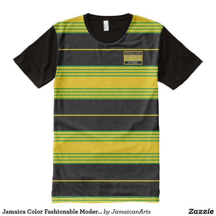 Jamaica Color Fashionable Modern T-Shirt Vacation