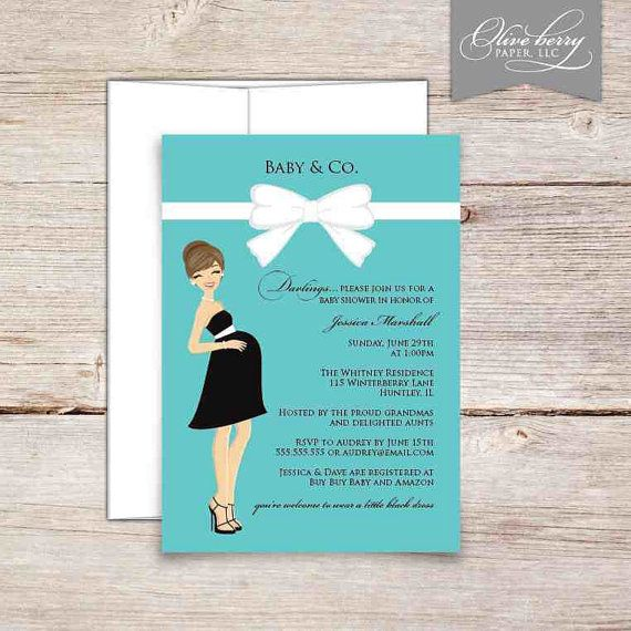 Tiffany Baby Shower Invitations by OliveBerryDigitals on Etsy, $15.00