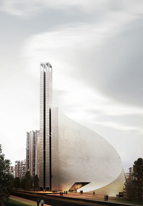 Prishtina Central Mosque, TARH O AMAYESH Consultant Architects & Town Planners, TARH O AMAYESH, mosque design, international competition, architectural competition, dome, spiritual architecture, Prishtina, Kosovo