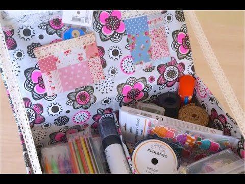 DIY. Как сделать  Органайзер  для личного дневника, Скетчбука. Коробка д...