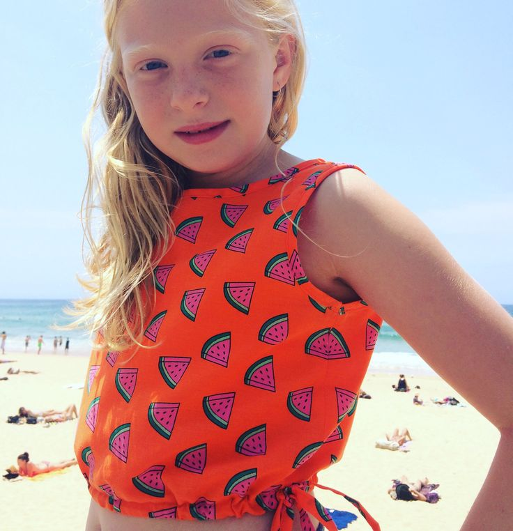 A personal favourite from my Etsy shop https://www.etsy.com/au/listing/257579343/summer-watermelon-printed-girls-crop-top