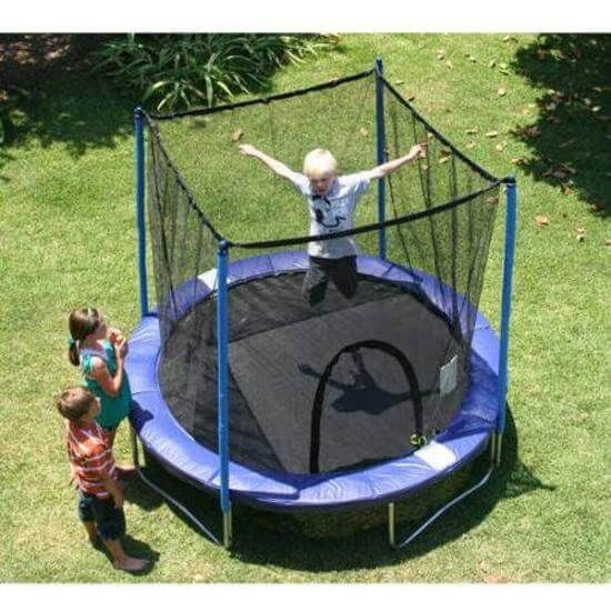 Round Trampoline Compo 8' Enclosure Net Jump Safety Kids Outdoor Sport NEW Blue  #1