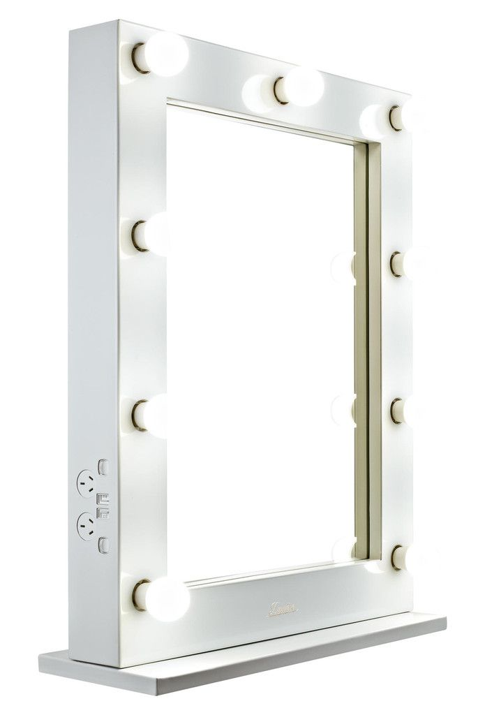 glossy white lighted hollywood vanity makeup mirror glamour makeup mirrors