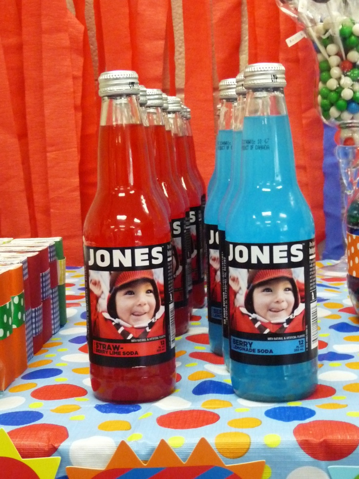 Jones Soda. Party favors for Lo 1st Birthday.