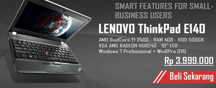 SMART FEATURES FOR SMALL-BUSINESS USERS - Lenovo ThinkPad E140 10 inch notebook available now !! -- http://ow.ly/FwcHU