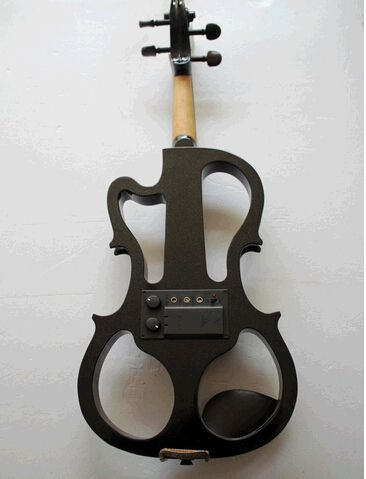 107.69$  Watch here - http://ali2r6.worldwells.pw/go.php?t=32251098883 - Wooden Beginners Electric Violin/ Fiddle For Sale, Black/ White Violine Send With Rosin, Case And Headphone 107.69$