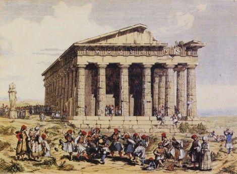 Andrea Gasparini, Το Θησείο, 1842. Mουσείο της πόλης των Αθηνών. Πηγή: www.lifo.gr: