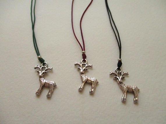 Christmas deer necklace deer necklace Christmas gifts gift