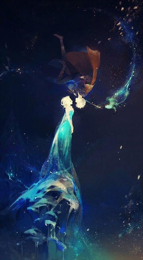 Jack Frost x Elsa from http://sevnilock.tumblr.com/ --- absolutely stunning.