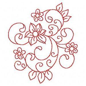 redwork floral designs