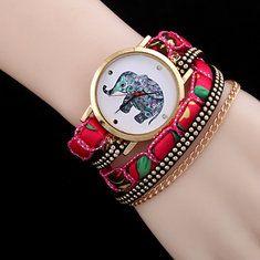 #Banggood Женщины слон схеме заклепка цепи завернуть лямки браслет кварцевые запястье часы (1046201) #SuperDeals