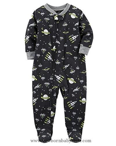 Baby Boy Clothes Carters Baby Boys 1 Pc Fleece 327g106 (18 Months, Black Space)