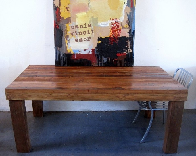 Beautiful Reclaimed Wood A R T I S A N Dining Table/Desk.farmhouse/salvaged.  $695.00, Via