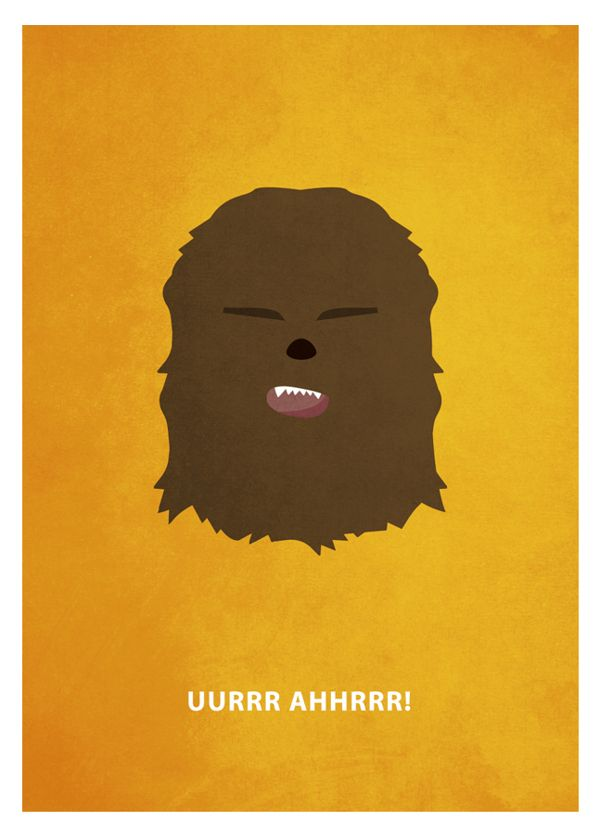 Star Wars – Chewbacca «Star Wars - Minimalism Author: Keith Bogan»