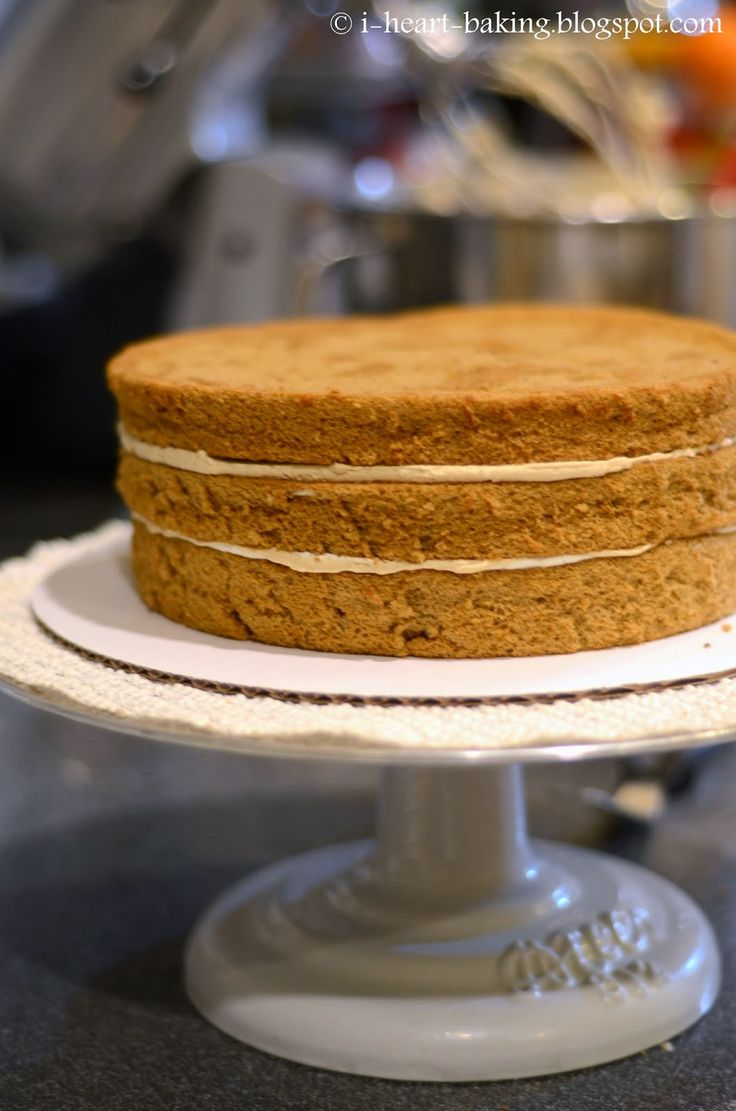 coffee chiffon cake with espresso-tinted whipped cream | Baking ...
