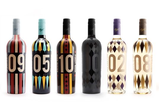 Yarraman Estate's Barn Buster Wines | The redesign of Yarraman Estate's Barn Buster wines. Each individual bottle represents a unique flavor and embodies a race horse like quality. | Designer: Victoria Abram | Image 1 of 4