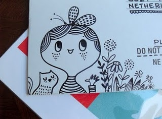 Hand drawn envelopes are the best - so cute!