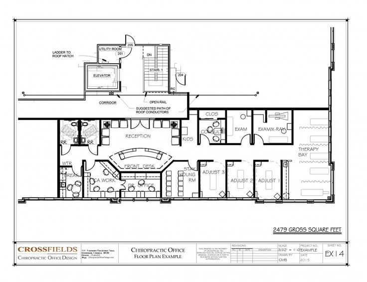 Chiropractic Floor Plan Closed Adjusting With Large Passive Trerapy 2479 Gross Sq Ft EX