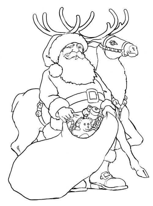 Coloring Pages Santa: