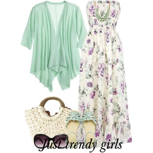 floral maxi dress.  Colorful maxi dresses with cardigans http://www.justtrendygirls.com/colorful-maxi-dresses-with-cardigans/