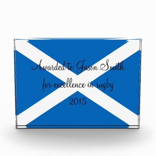 Scotland flag custom award
