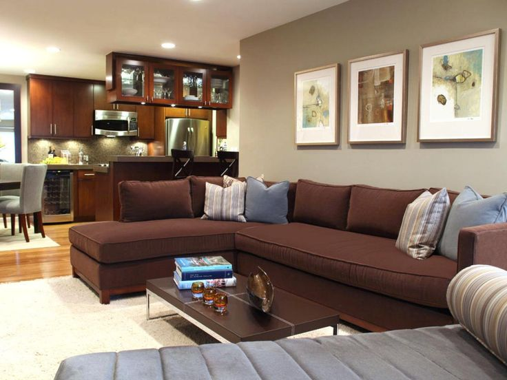 103 best images about brown couch decor on pinterest for Brown taupe living room