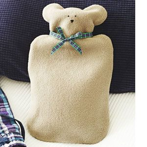 Teddy hot-water bottle cover - Make a teddy hot-water bottle cover: free sewing pattern - Craft - allaboutyou.com