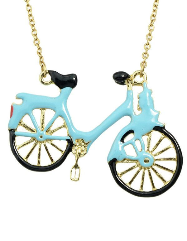 Shop Blue Bicycle Choker Necklace  online. SheIn offers Blue Bicycle Choker Necklace  & more to fit your fashionable needs.