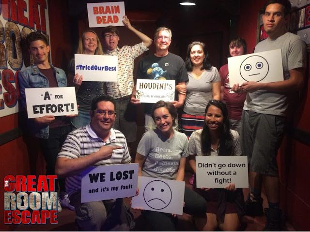 Great Room Escape in San Diego. The Houdini Room
