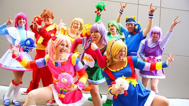 Get your group to dress up as Rainbow Brite and the Color Kids.