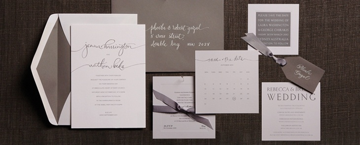 The relaxed handwriting invitation eatures the bride and groom's names in a stylized  handwritten cursive text. Also available are the rsvp, accessory cards, place cards and order of service cover.
