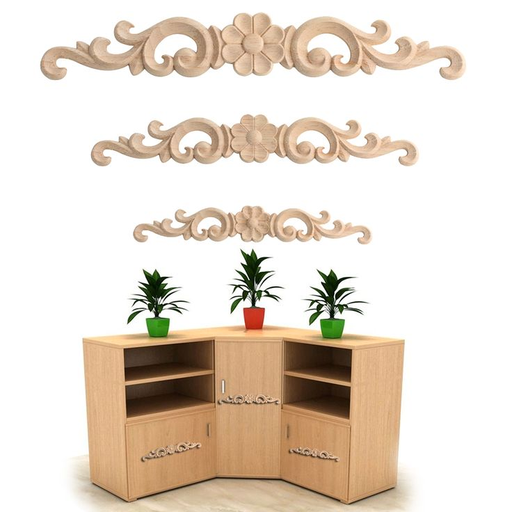 Floral Wood Carved Decal Corner Appliques Frame Wall Doors Furniture Woodcarving Decorative Wooden Figurines Crafts-in Figurines & Miniatures from Home & Garden on Aliexpress.com | Alibaba Group