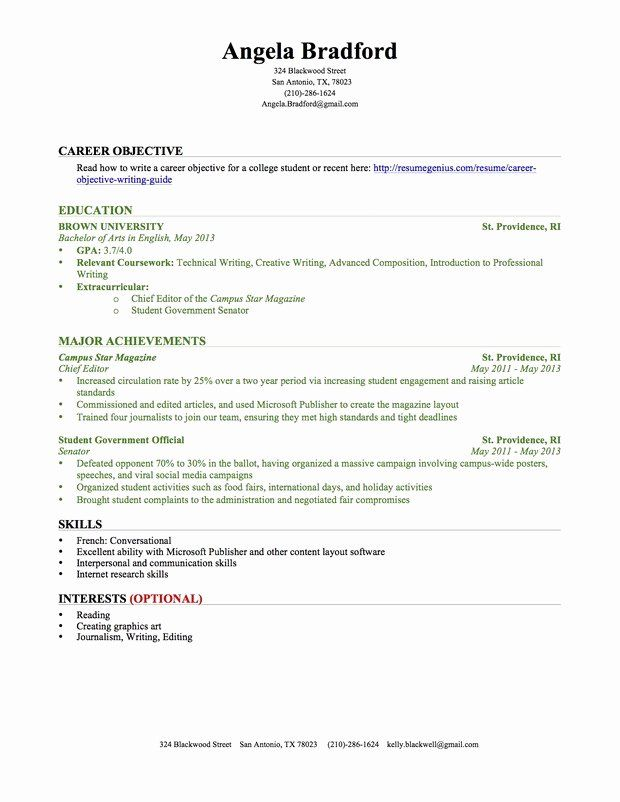 Resume Objective Retail No Experience Printable Resume Template Student Resume Template Student Resume Resume No Experience