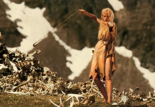 Clan of the Cave Man with Daryl Hannah- Ayla using a sling which was not uncommon