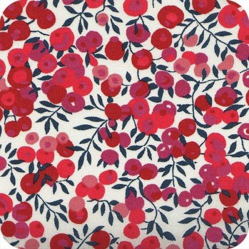 Liberty tana Lawn Wiltshire rouge de chez cousette.com