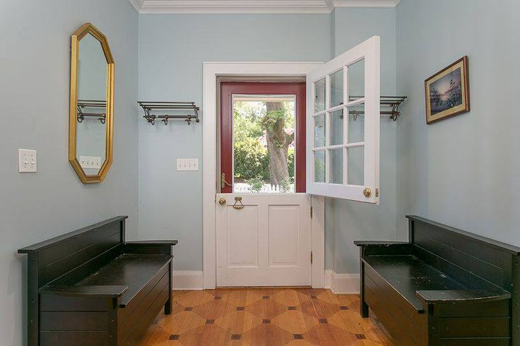 Side Entrance Foyer With Authentic Double Dutch Door U2014 At Basking Ridge,  New Jersey.