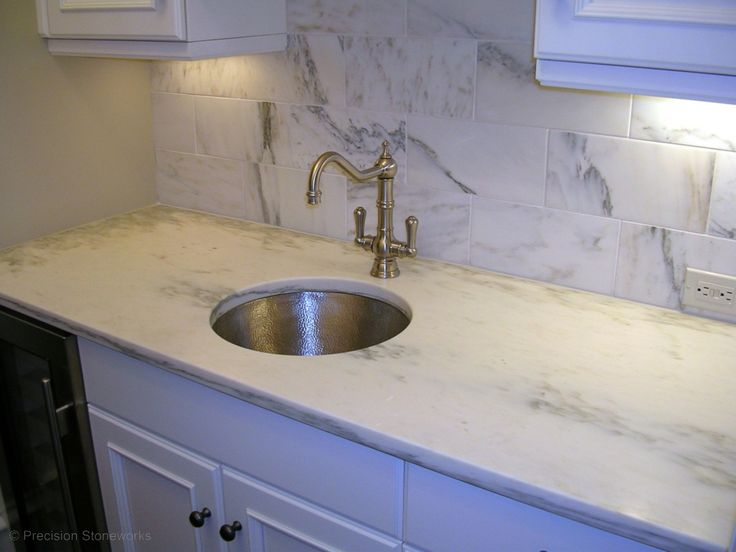 slab of white alabama marble for upstairs countertop in bathroom