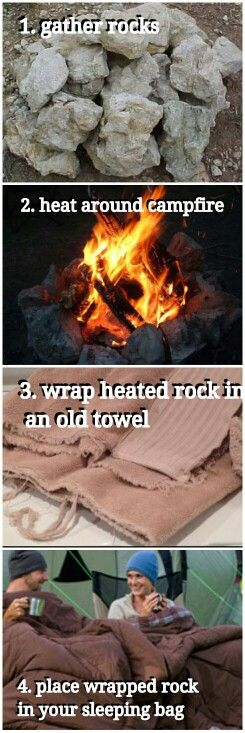 Cosy campers... gotta share this idea for all those who aren't yet clued in on how to stay warm on those cold nights in a tent! Cass xx