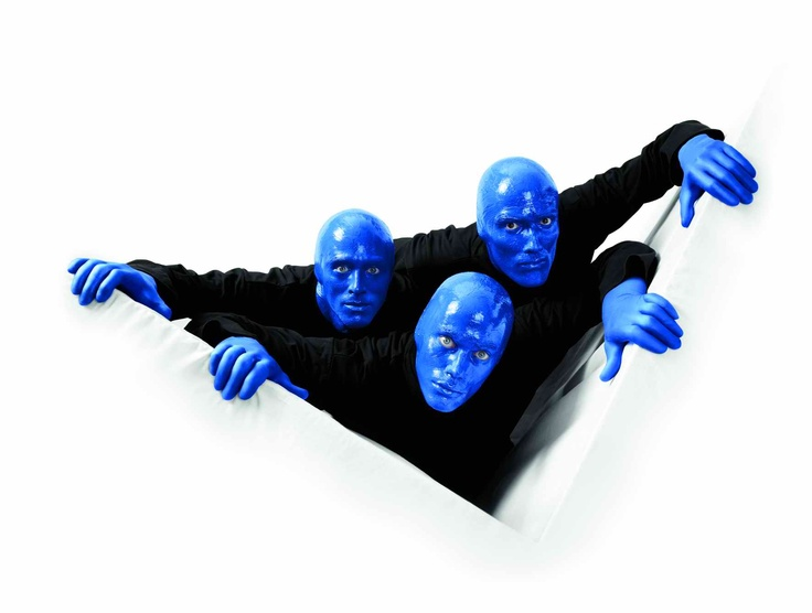 Blue Man Group, Broadway, New York.
