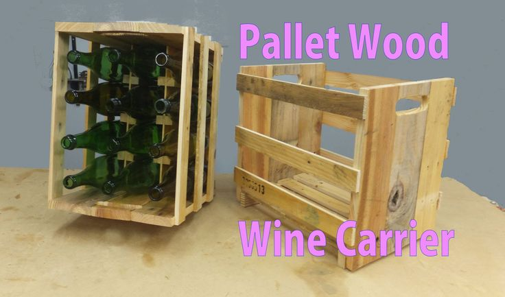 Pallet Wood Wine Carrier & Storage Rack Tutorial.