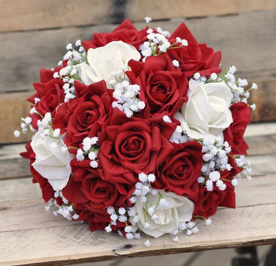 Flores de la boda ramo de la boda ramo de por Hollysflowershoppe