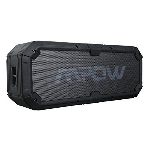 Mpow Enceinte Bluetooth Hifi Stéréo Batterie de 5200 mAh Fonction Batterie Externe Secours Haut-Parleur Portable Etanche IPX5 Son Super 2…