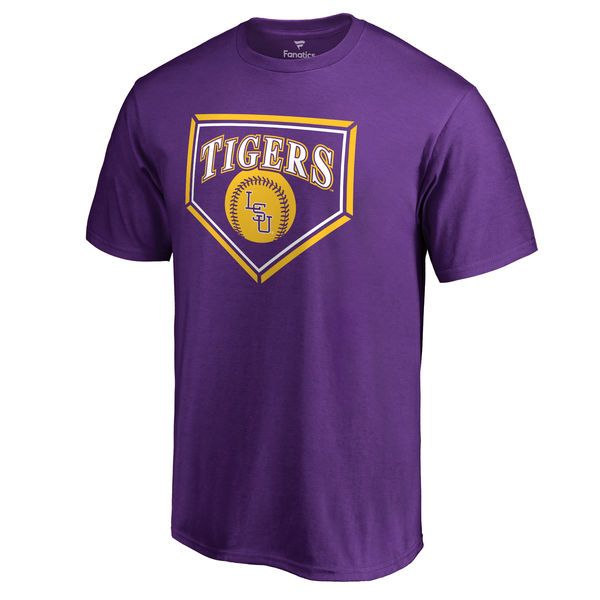 LSU Tigers Baseball Hometown Collection T-Shirt (Purple)...